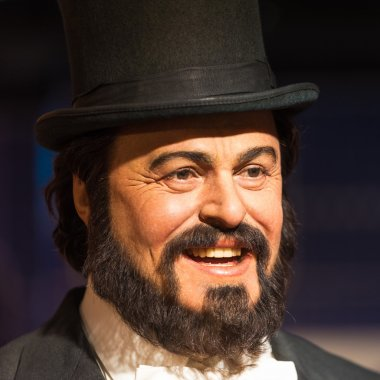 axwork of Luciano Pavarotti on display at Madame Tussauds on January 29, 2016 in Bangkok, Thailand.