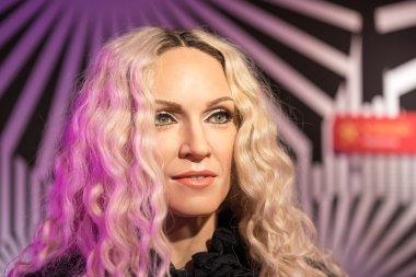 Waxwork of Madonna on display at Madame Tussaud