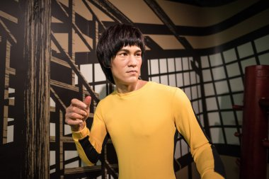 A waxwork of Bruce Lee on display at Madame Tussauds