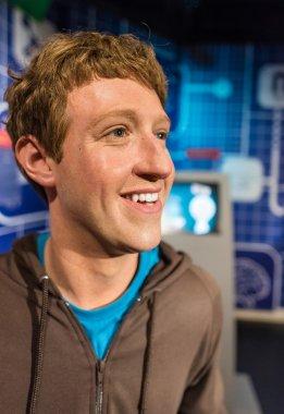Waxwork of Mark Zuckerberg on display at Madame Tussauds