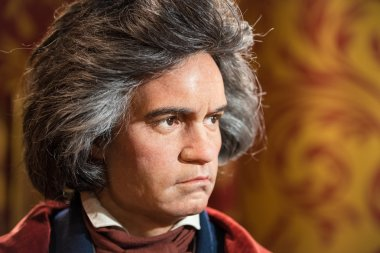Waxwork of Ludwig van Beethoven on display at Madame Tussauds