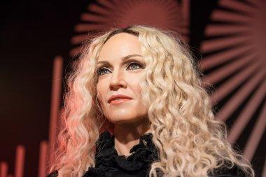 Waxwork of Madonna on display at Madame Tussauds