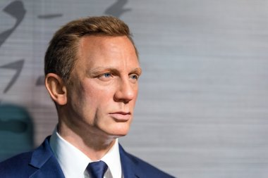 Waxwork of Daniel Craig on display at Madame Tussauds