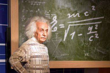 A waxwork of Albert Einstein