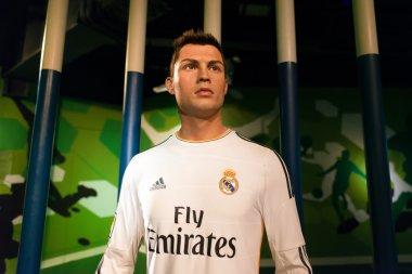 A waxwork of Cristiano Ronaldo on display at Madame Tussauds