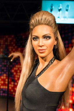 A waxwork of Beyonce Knowles on display at Madame Tussauds