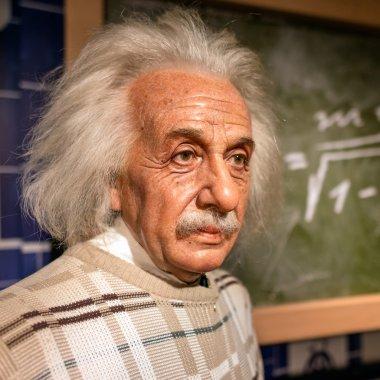 A waxwork of Albert Einstein