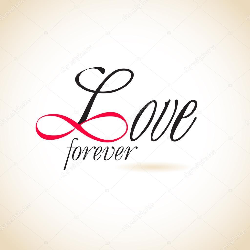 Unendliche Liebe, ewige Liebe - Vektorgrafik: lizenzfreie