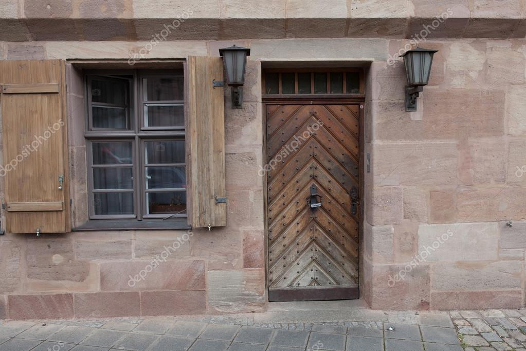 european style windows german style windows and doors in the old european style stock photo windows starko