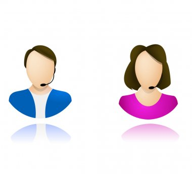 Customer service operator icons