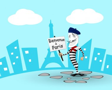 Cartoon mime in France
