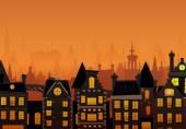 Fotografia La città di notte di vettore