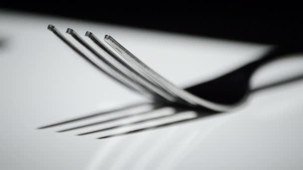 Vidlice, kuchyňské příbory, rotace bílá základní