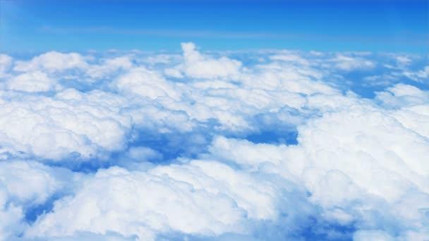 Letecký pohled na obláčky z nebe