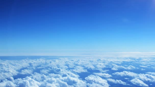 A légi felvétel a felhők, repülőgép