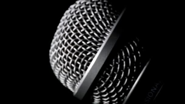 Photo Radio microphone at black background