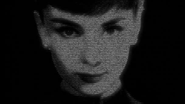 Animaci tvář herečka Audrey Hepburnová vyrobené s číslicemi