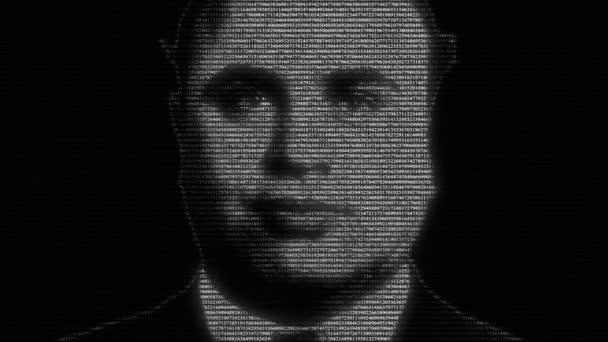 Animation von alphonse gabriel al capone face mit laufenden Zahlen