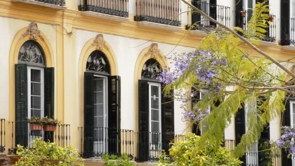 Balconi e terrazze tipiche della zona dove nacque il pittore Picasso ...