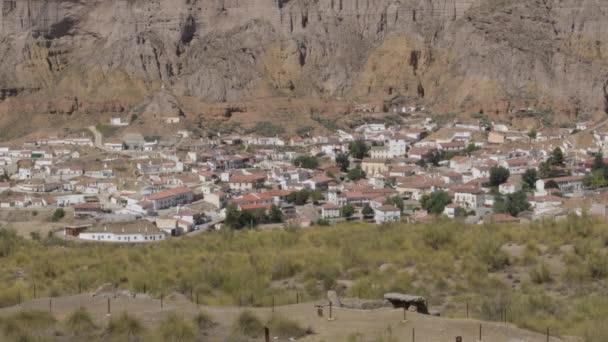 Gorafe Stadt zwischen Badlands Berge, Gorafe, Granada, Spanien