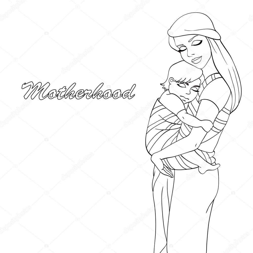 Boyama Kitabı Anne 3 Stok Vektör Andreevamarina 115323090