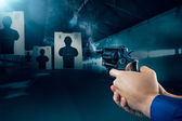 Police officer at a shooting range