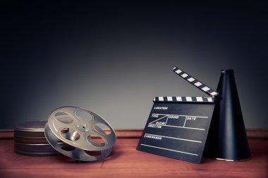 filmmaking scene with dramatic lighting