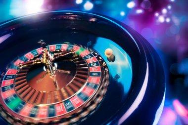 Roulette wheel in motion