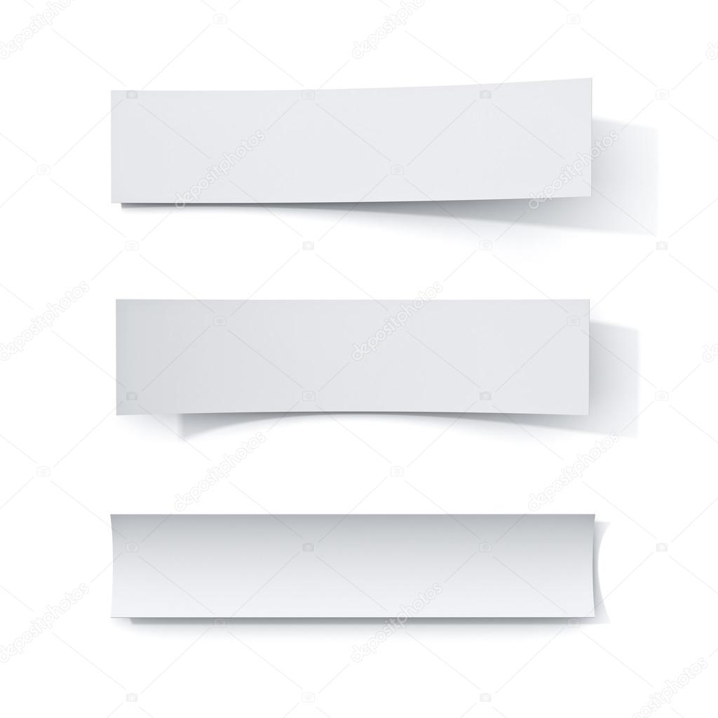 white paper strip notes isolated on white background with shadow stock photo c 3dconceptsman 115375464 https depositphotos com 115375464 stock photo white paper strip notes isolated html
