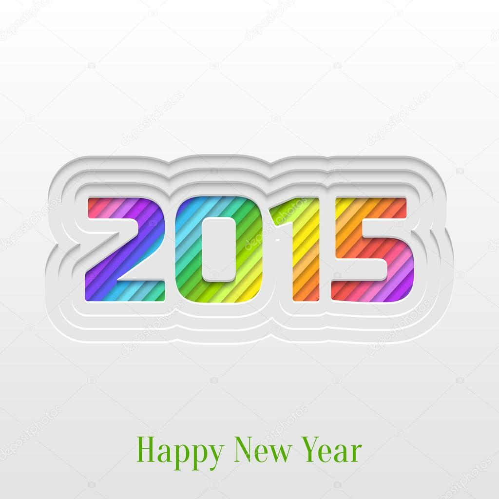 Creative 2015 happy new year greeting card stock vector okumer abstract paper cut 2015 happy new year background trendy greeting card or invitation design template vector by okumer m4hsunfo