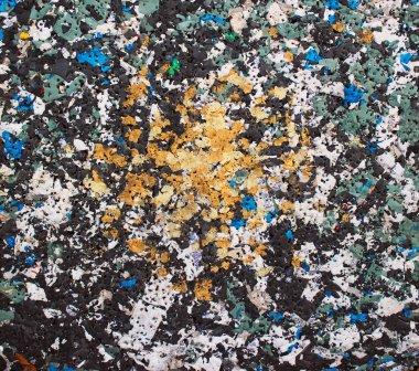 Pressed foam plastic trash background