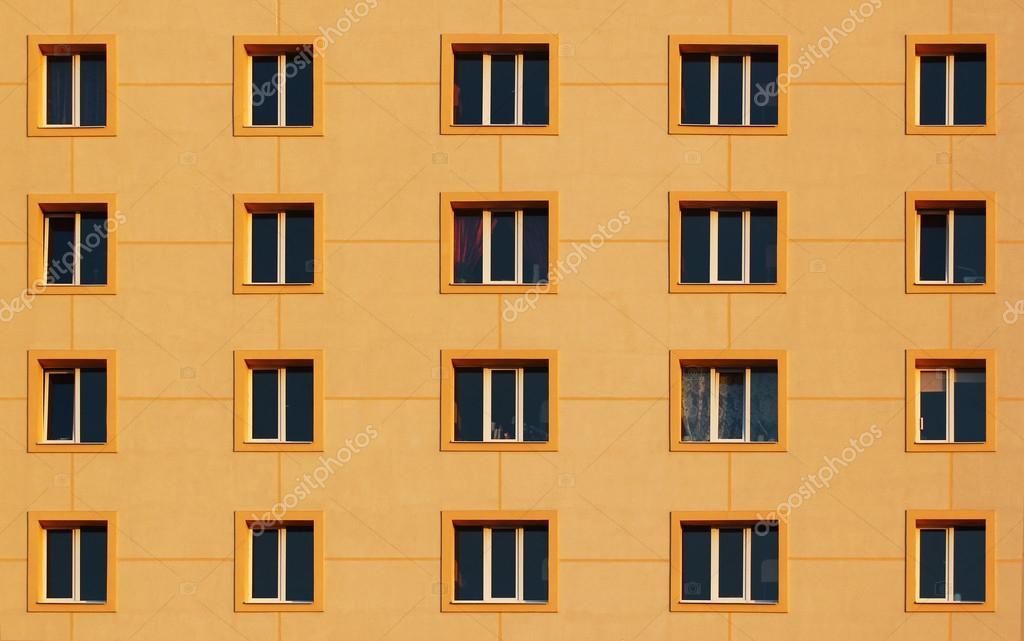 Regularny Wzorzec Windows W Nowoczesnym Budynku Mieszkalnym
