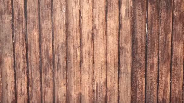 Schwenken Schuss von braunen Holzzaun Textur für Hintergrund