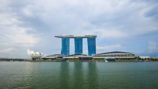 SINGAPORE - AUG 19, 2017 : Time-lapse of marina bay sand, urban landscape of Singapore