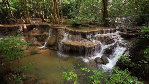 Level 6 of Huay Mae Kamin waterfall in Khuean Srinagarindra National Park, Kanchanaburi Province, Thailand