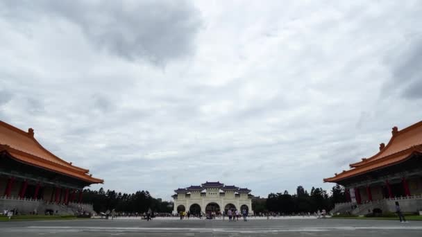 Taipei, Taiwan- 8 June, 2019: Unidentified people visited Liberty Square of Chiang Kai-Shek Memorial Hall in Taipei, Taiwan. the famous landmark with popular travel of tourists visiting Taiwan.