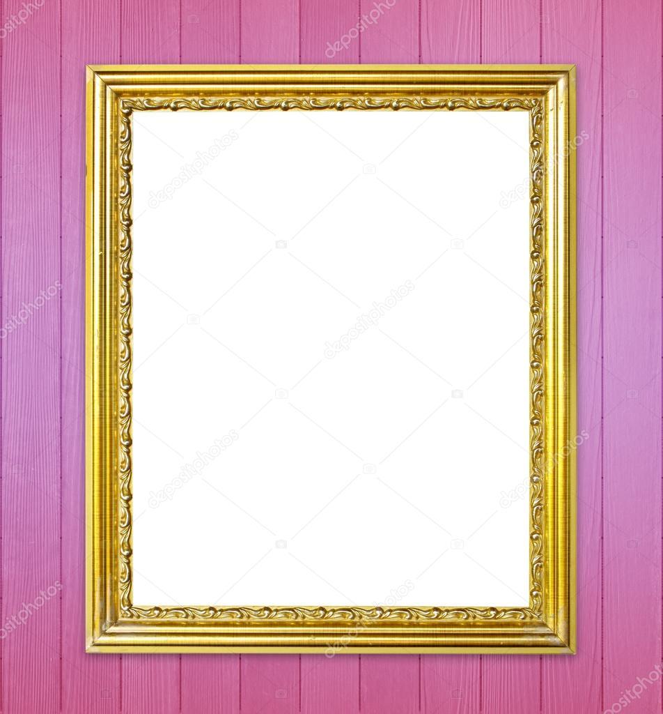 Goldener Rahmen auf bunte Wand-Hintergrund — Stockfoto © geargodz ...