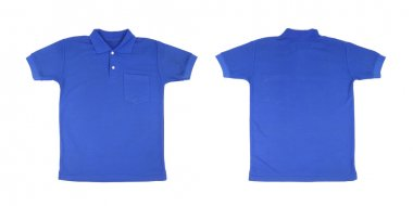 blank polo shirt set (front, back)