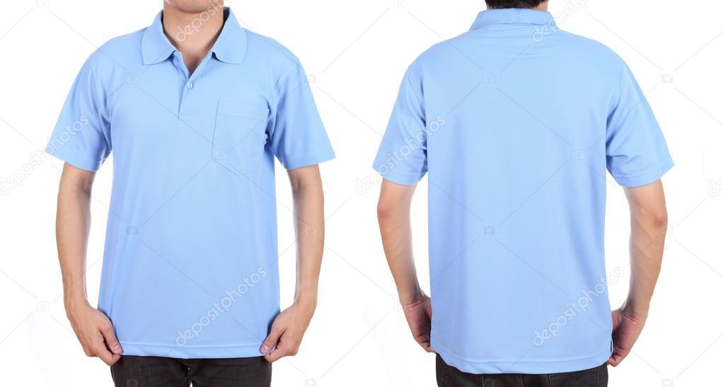 2026e19e4 blank polo shirt set front back on man stock photo geargodz .
