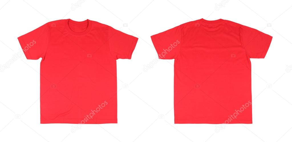 T Shirt Template Setfront Back On White Background Photo By Geargodz