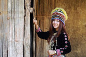 Photo Traditionally dressed Mhong hill tribe woman