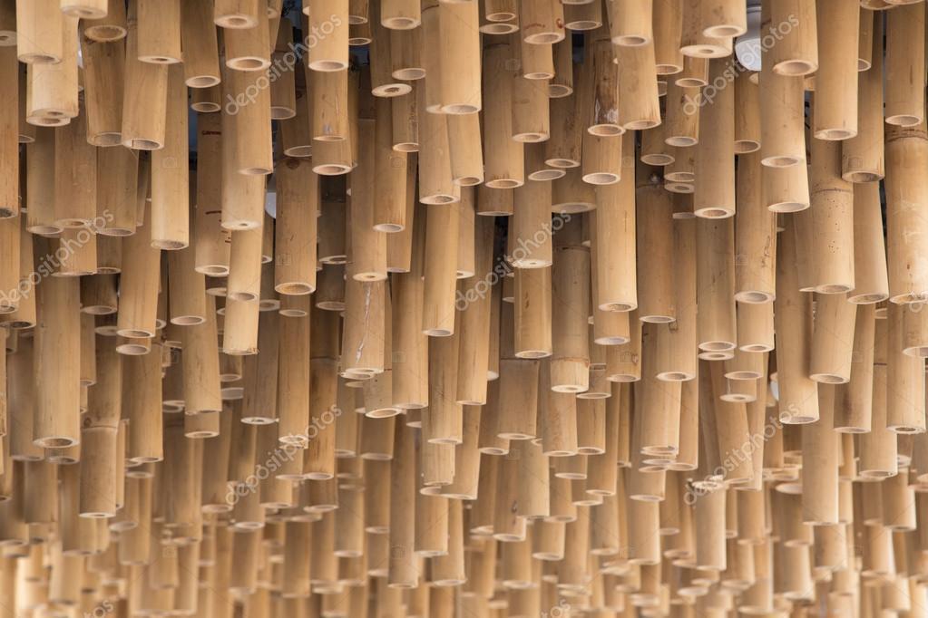 Bambus Holz Dekoration Auf Decke Hintergrund Stockfoto C Geargodz