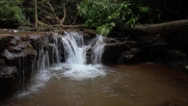 Stream waterfall close up in nature,Pa Chareon waterfall national park in Thailand