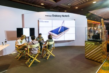 BANGKOK,THAILAND-October 3,2015:Thailand Mobile Expo 2015 Showcase The largest Event on 1-4 Oct 2015 Interesting and Attending The Event are Numerous at The Queen Sirikit National Convention Center.