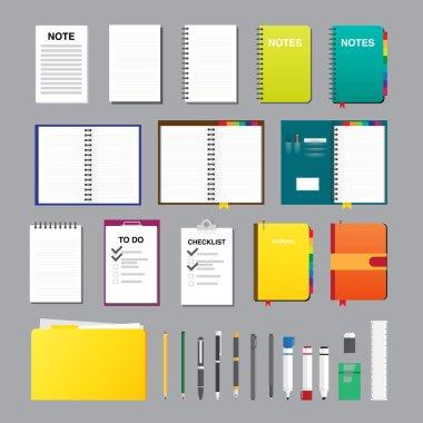 Notes Flat Design Elements