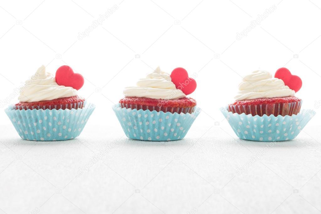 Herz Muffins Zum Valentinstag Stockfoto C Anamomarques 122004974
