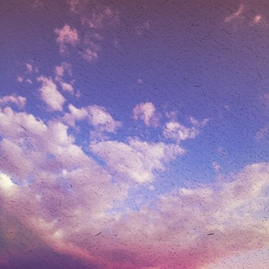 Fog and clouds on a vintage textured paper vector background, wi