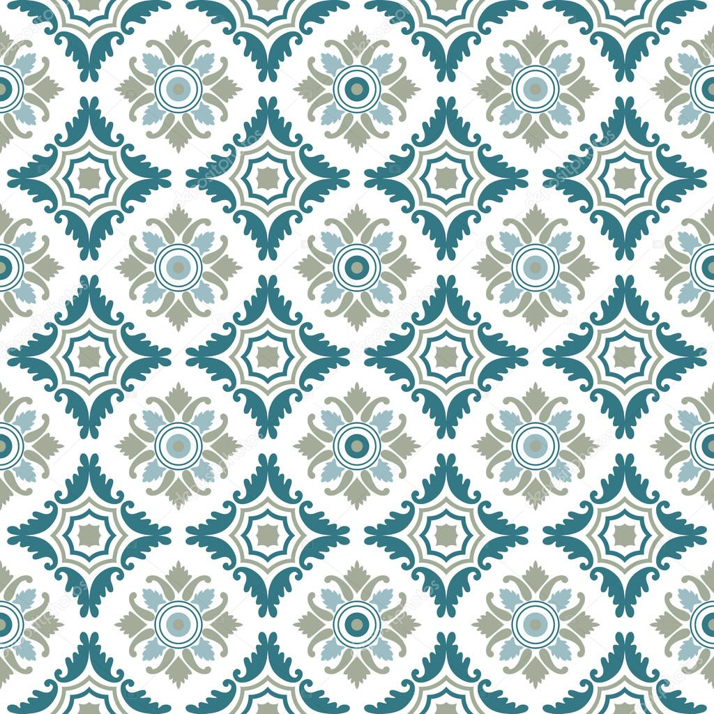Portuguese tiles, seamless pattern. Vintage background - Victorian ...