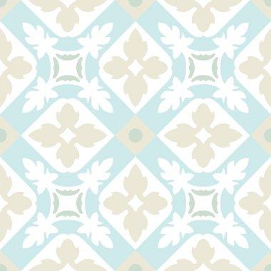 Portuguese tiles seamless pattern. Vintage background - Victorian ceramic tile in vector clip art vector