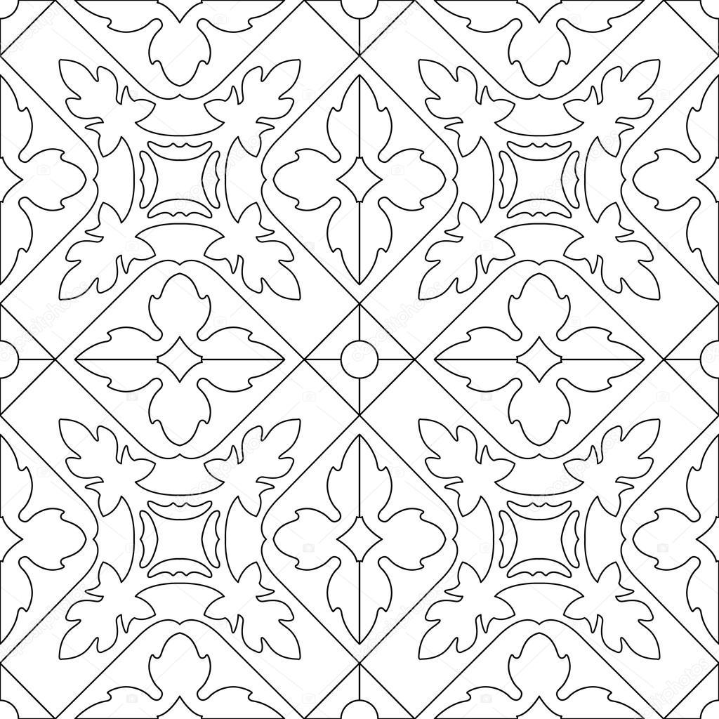 Libro de colorear único cuadrado página para adultos - diseño de ...